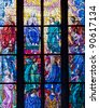 Stained-glass window in Catholic temple. See my portfolio for more - stock photo