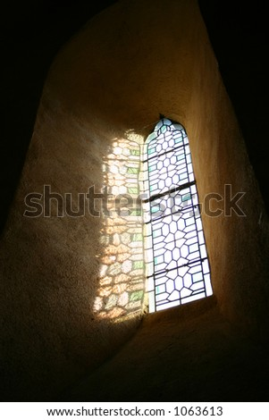 Stained Glass window in French church