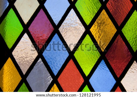 Stained Glass Window Colored Stock Photo 128121995
