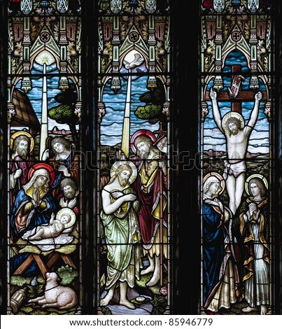 Stained Glass Windows - stock photo