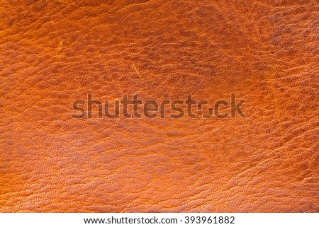 stained tan/brown leather apparent hard grunge style texture background - stock photo