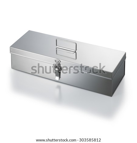 stainless case isolated on white background