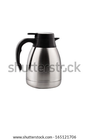 stainless electric kettle  - stock photo