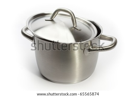 Stainless pan - stock photo