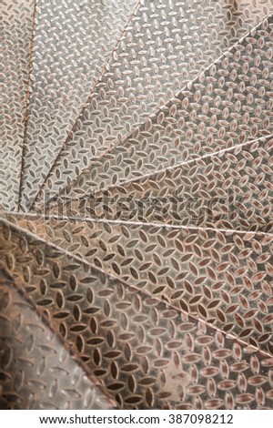 Stainless Stair pattern - stock photo