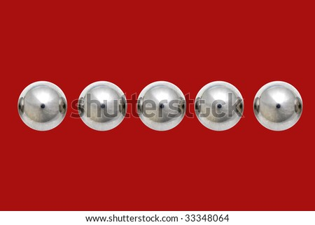 Stainless Steel Ball Bearings on Red