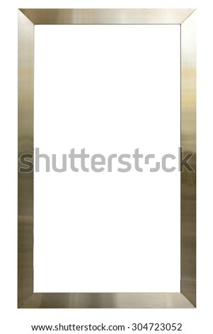 Stainless Steel Frame Border Isolated On Stock Photo (Royalty Free ...