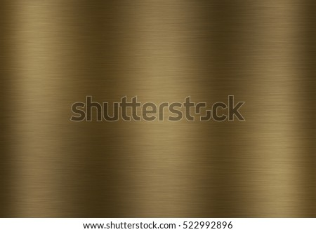 Stainless steel gold polished metal surface background or aluminum brushed texture with reflection.