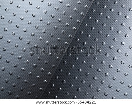 Stainless steel interior floor panels - stock photo