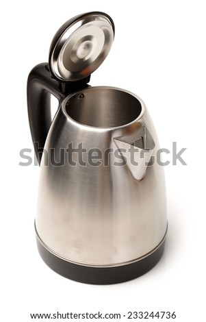 Stainless Steel Kettle on white background  - stock photo