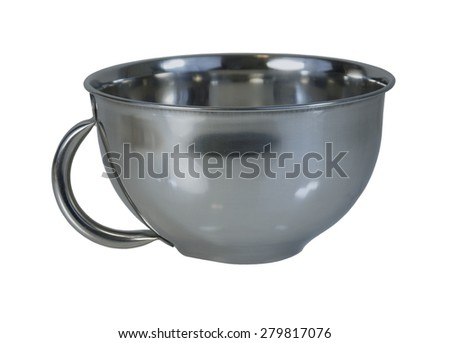 Stainless steel mug for drinking warm items - path included - stock photo