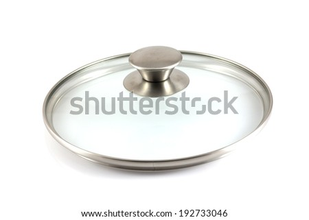 Stainless steel pot isolate in white background - stock photo