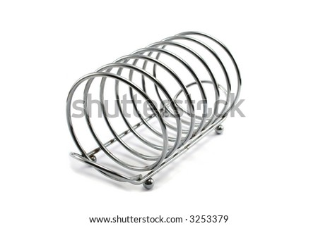 stainless steel spring style toast rack - stock photo