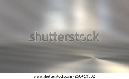 Stainless steel stage background with reflections for product presentation - stock photo