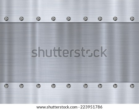 Stainless steel / Steel plate / Silver background chrome texture