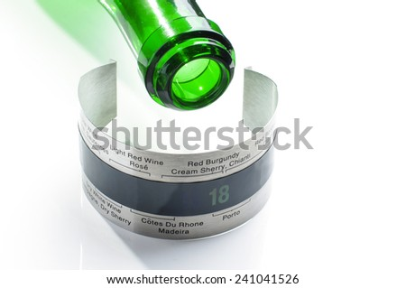 Stainless steel wine thermometer - stock photo