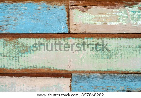 Stains color wood, Abstract background, vintage - stock photo
