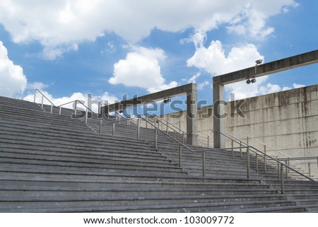 Stair case up - stock photo