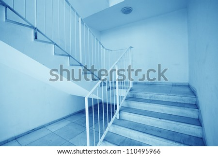 stair in modern building