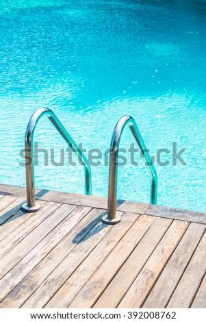 Stair swimming pool - stock photo