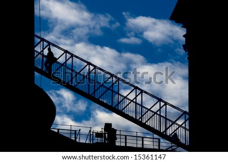 Stair to the heaven in Kazan Cathedral, Saint Petersburg, Russia - stock photo