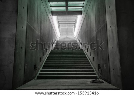 stair what is not finished yet - stock photo