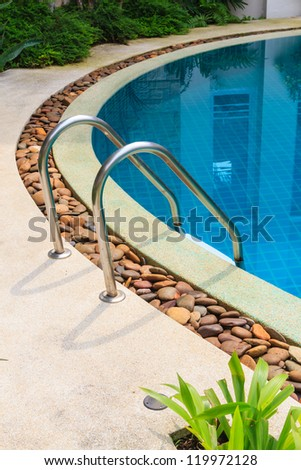 Stair with swimming pool