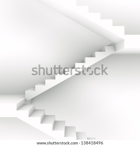 staircase front view - stock photo