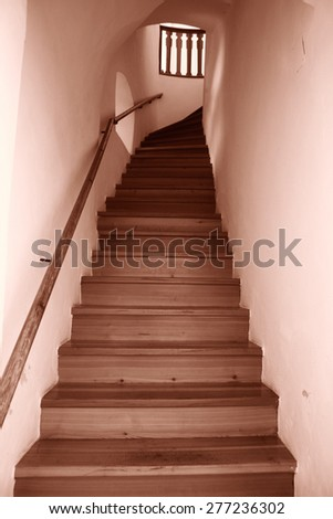 Staircase in a modern hause. - stock photo