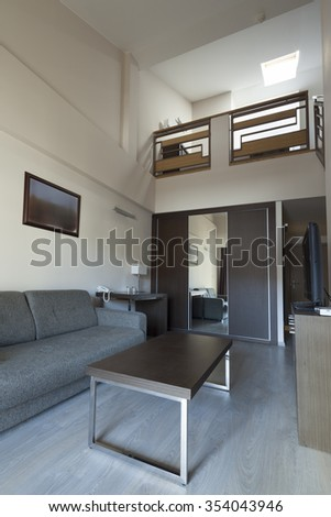 staircase in duplex apartment interior