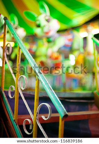 staircase in fun park - stock photo