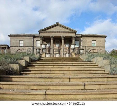Staircase leading to the old hall mansion, tatton park UK