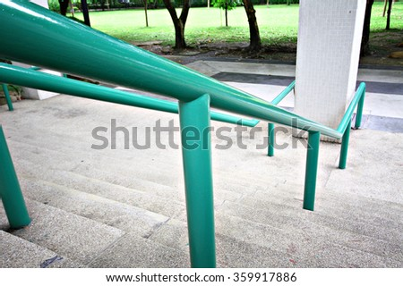 staircase with a handrail  - stock photo