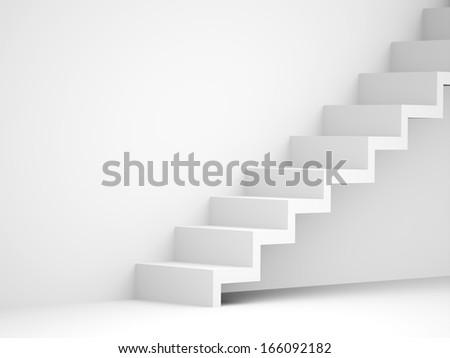 Stairs business concept rendered black and white - stock photo