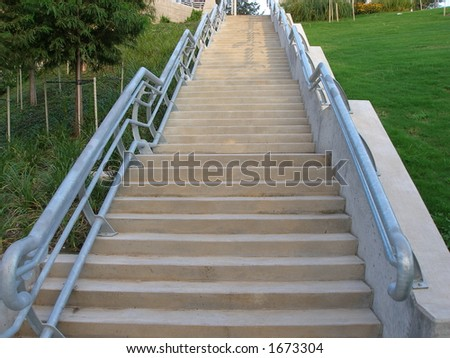 Stairs going up horizontal format