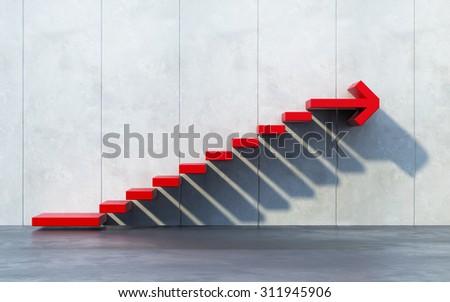 stairs going  upward - stock photo