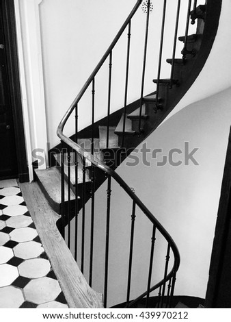 Stairs in black and white, Paris