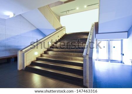 stairs in china guangdong art gallery hall  - stock photo