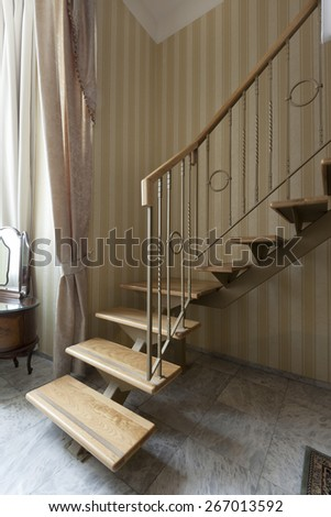 stairs in duplex apartment - stock photo