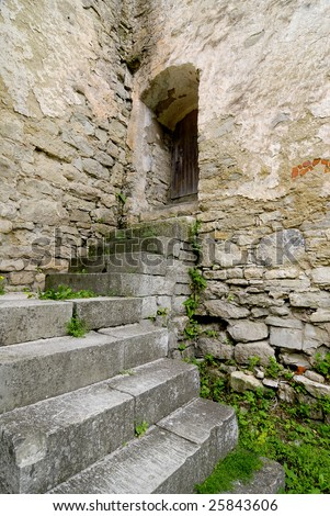 Stairs in fort - stock photo