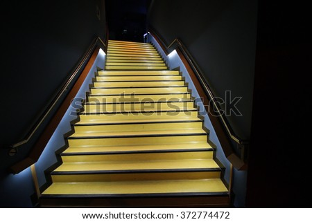 Stairs in light - stock photo