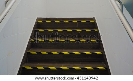 Stairs in the building - stock photo