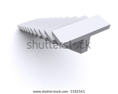 stairs leading up - stock photo