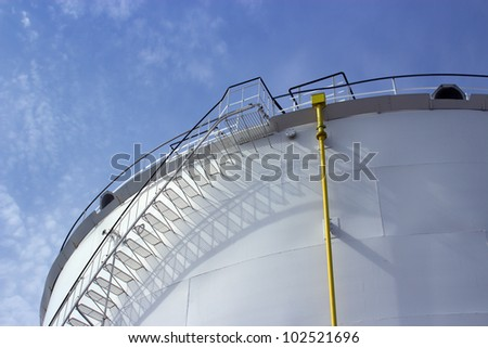 Stairs of a petrochemical tank