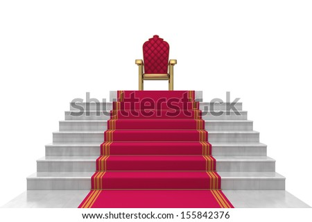 stairs on a white background - stock photo