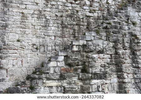 Stairs on the wall Yedikule Fortress in Istanbul, Turkey - stock photo