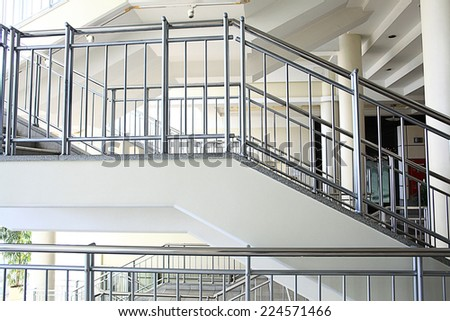 Stairs, stairs in a modern building - stock photo