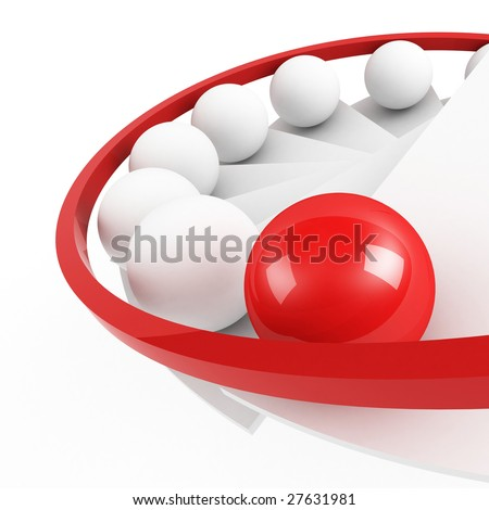 stairs to success leadership concept - stock photo