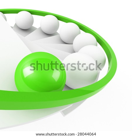 stairs to success leadership concept green - stock photo
