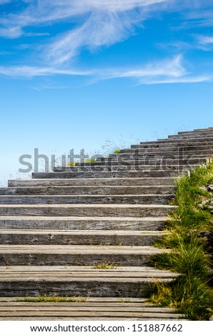 Stairs to sun - stock photo